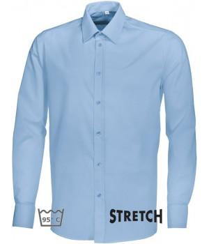 Chemise bleu clair homme manches longues,Stretch liberté de mouvement