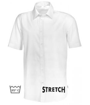 Chemise blanche homme Manche courte, Stretch liberté de mouvement