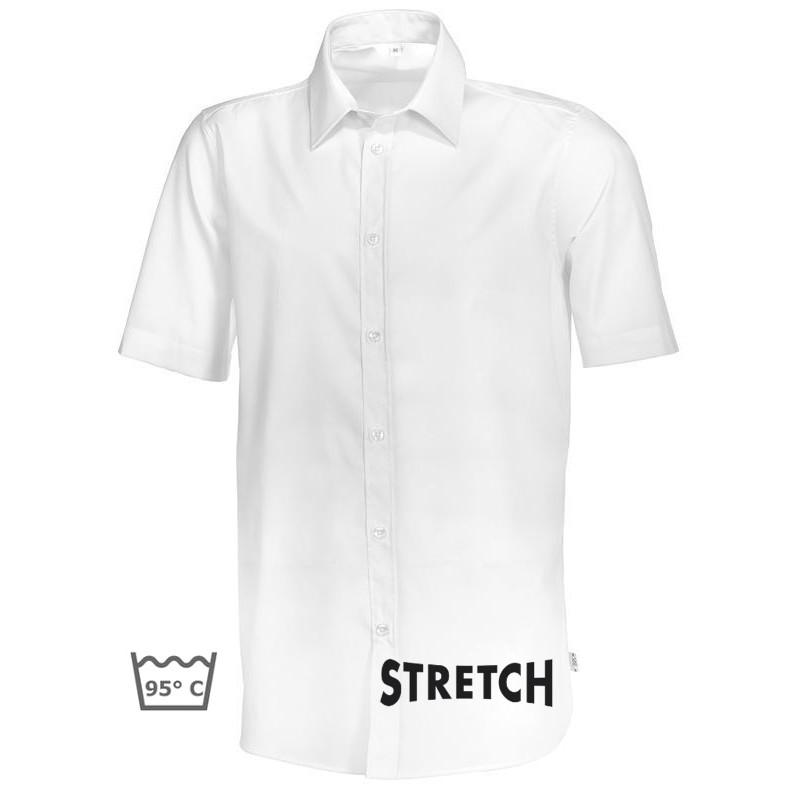 chemise blanche homme manche courte stretch peut bouillir. Black Bedroom Furniture Sets. Home Design Ideas