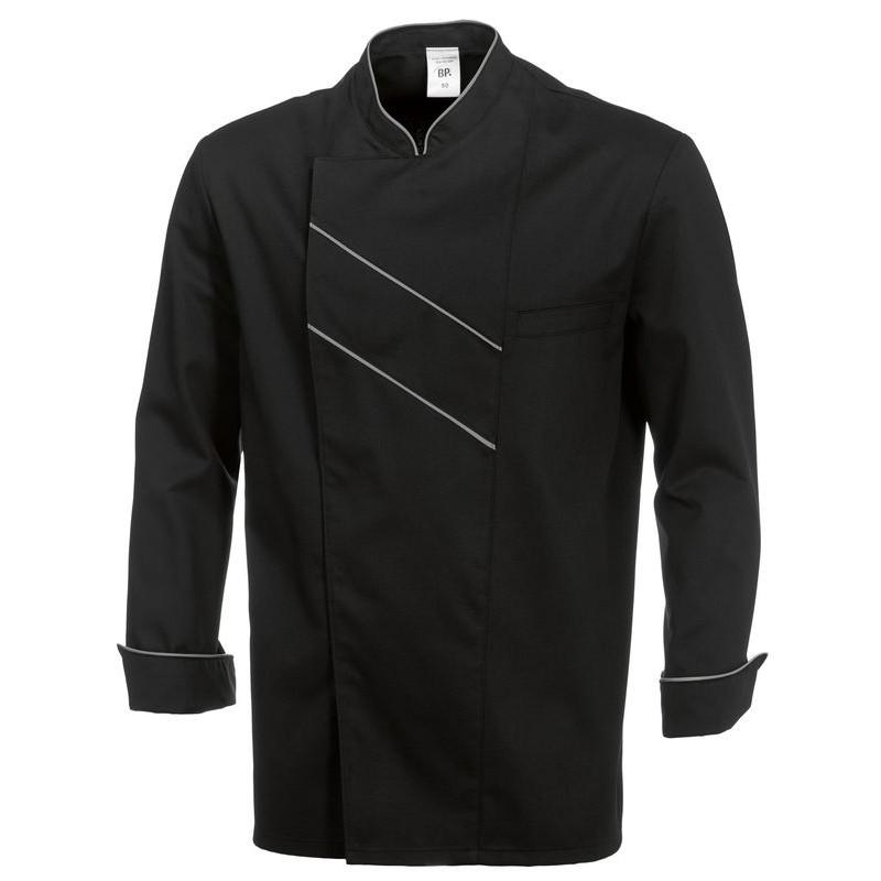 veste de cuisine grand chef entretien facile peut bouillir noir. Black Bedroom Furniture Sets. Home Design Ideas