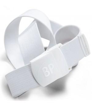 Ceinture sangle extensible, Boucle polyamide, Blanc, Adapté au lavage industriel, 110 cm