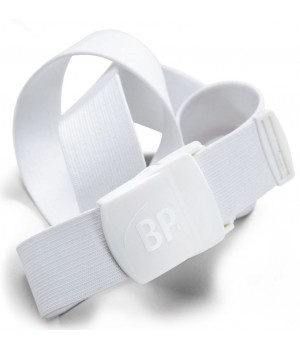 Ceinture sangle extensible, Boucle polyamide, Blanc, Adapté au lavage industriel, 130 cm