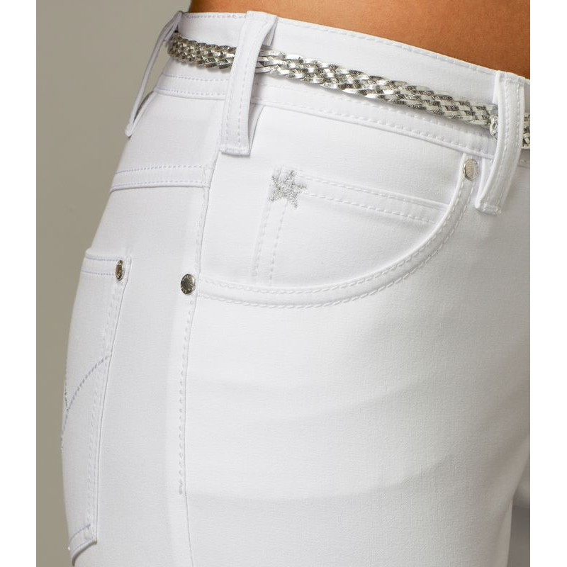 pantalon femme bi stretch coupe jean rivets. Black Bedroom Furniture Sets. Home Design Ideas