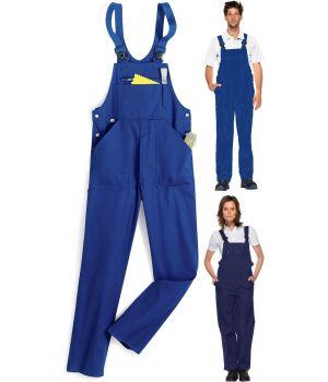 Salopette de travail, cotte à bretelles 100% coton, Agréable à porter et résistante