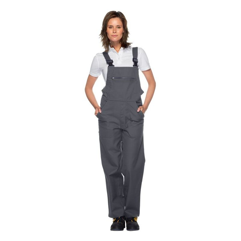 salopette de travail cotte bretelles excellente tenue entretien facile polyester coton. Black Bedroom Furniture Sets. Home Design Ideas