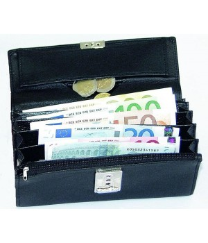 Porte monnaie pvc, 7 poches à soufflets, 1 compartiment monnaie