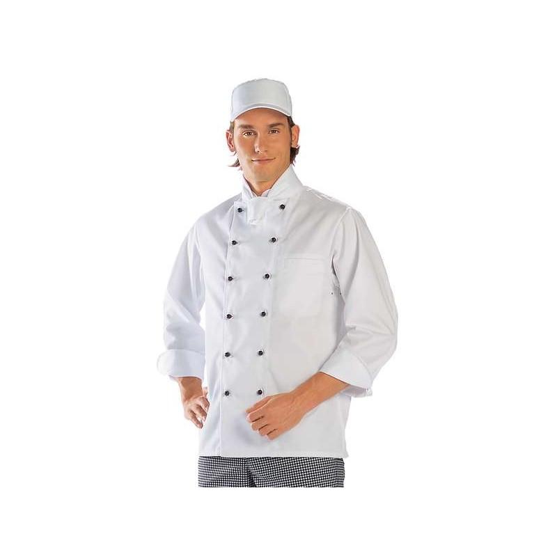 Veste Cuisine Boulanger De Officier Viennoises Blanc Coutures Col rgzrw5qn
