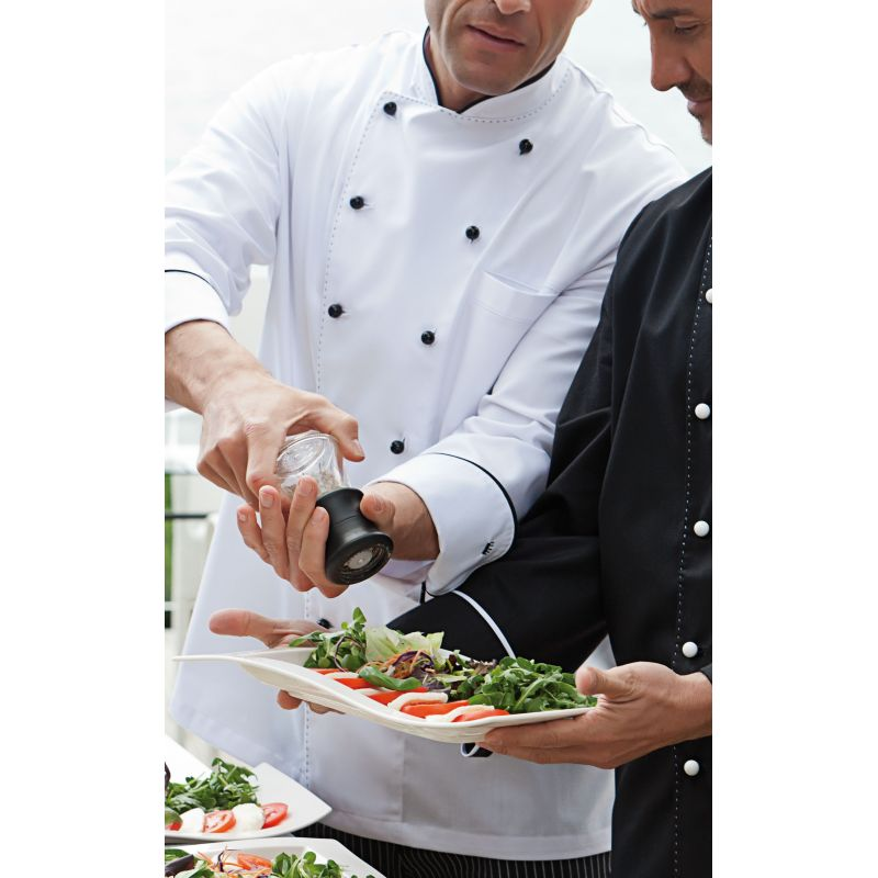 Veste chef de cuisine manches longues surpiquage - What is a chef de cuisine job description ...