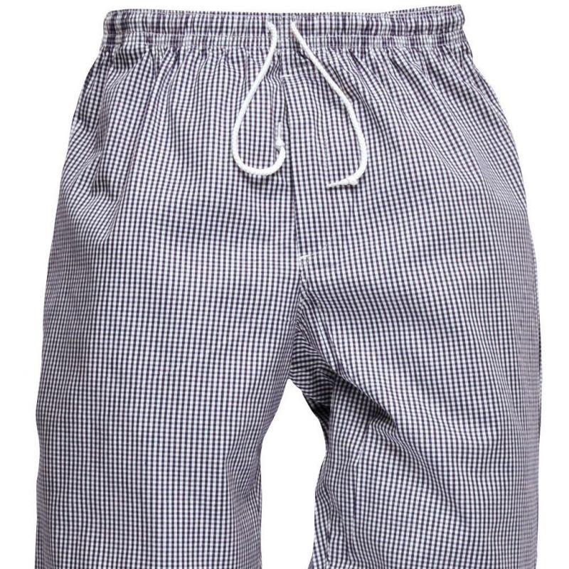 pantalon de cuisine carreaux blanc et bleu style jogging. Black Bedroom Furniture Sets. Home Design Ideas