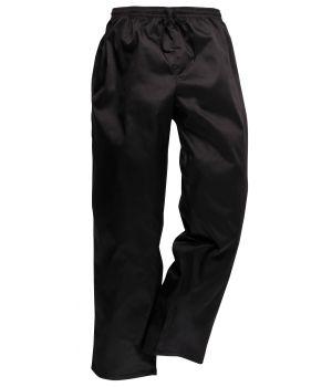 Pantalon de cuisine, ceinture élastiquée et cordon de serrage