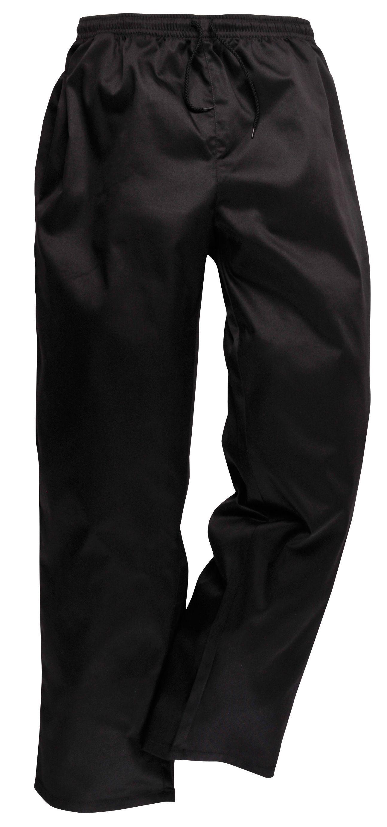 Nideen Pantalon de cuisinier unisexe Noir