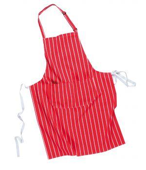 Tablier cuisine à bavette, double poche, 100% coton