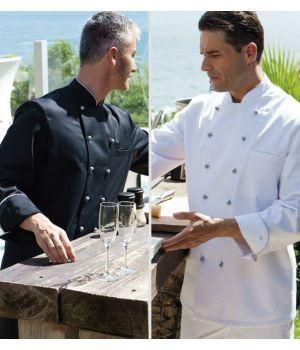 veste de cuisine, veste chef, blanche, manches longues - biomidi - Tenue De Cuisine Homme