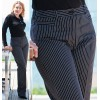 Pantalon de cuisine dame, rayures noir et blanc