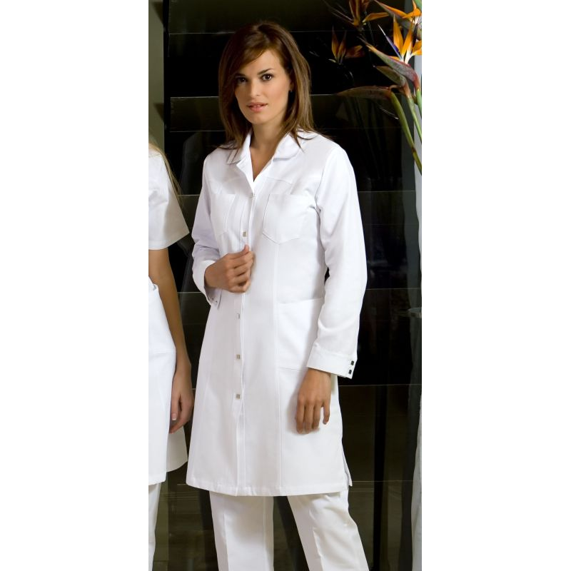 blouse femme manches longues blanche bouton pression. Black Bedroom Furniture Sets. Home Design Ideas