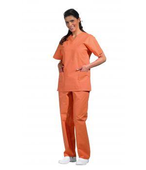 Pantalon couleur orange homme ou femme, liens a nouer