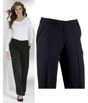 Pantalon noir, élégant et parfaitement bien ajusté, Polyester