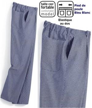 pantalon de cuisine chef cuisinier boulanger couleur biomidi. Black Bedroom Furniture Sets. Home Design Ideas