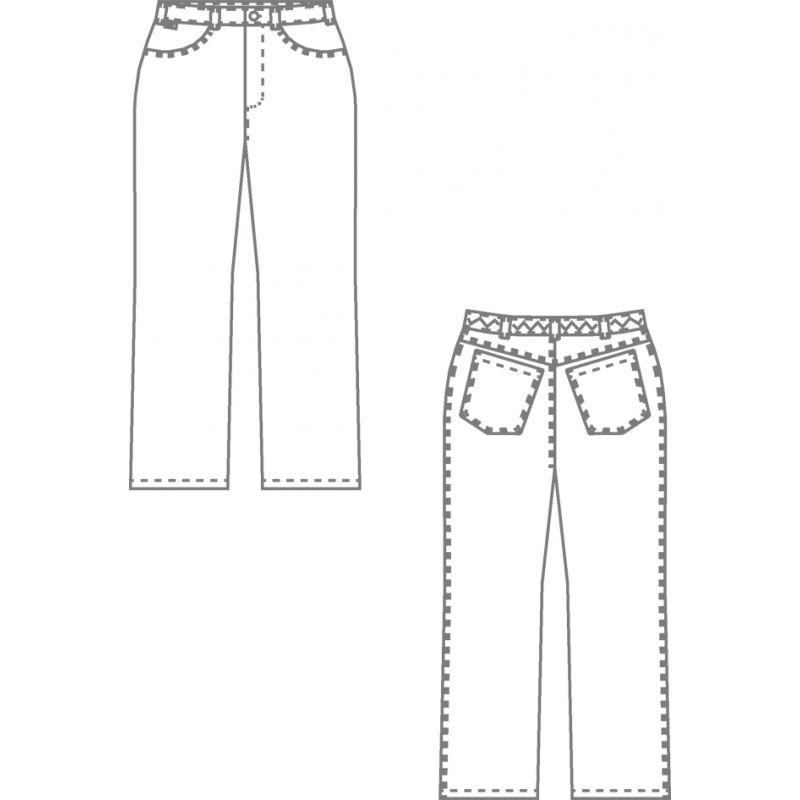 pantalon cuisine ou service homme femme coupe jean couleur. Black Bedroom Furniture Sets. Home Design Ideas