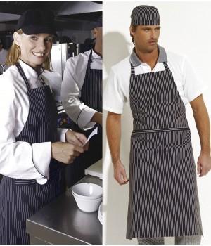 Tablier cuisine à bavette, 100 % Coton