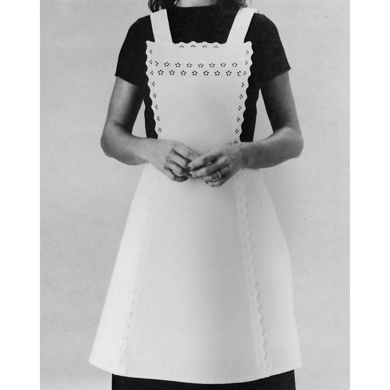 Tablier de service l gante dentelle ajour e et bords en for Tablier blanc de cuisine