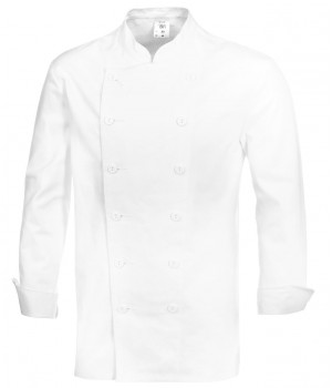 veste cuisine, Col officier, 100% coton
