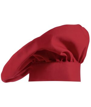 Toque Chef, béret Rouge, coton-Trevira confort et solidité