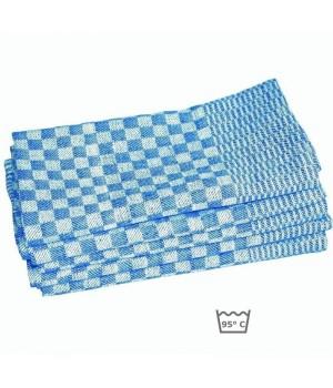 Torchons, 100 % coton sergé, bleu et blanc