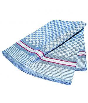 Torchon, 100 % coton, bleu et blanc