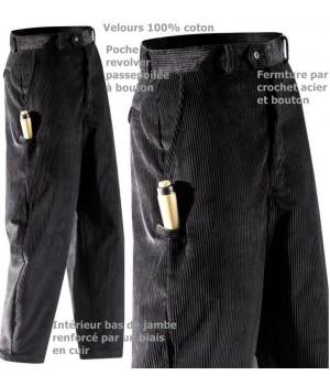 Pantalon Velours Adolphe Lafont, très résistant, bas de jambes renforcé cuir