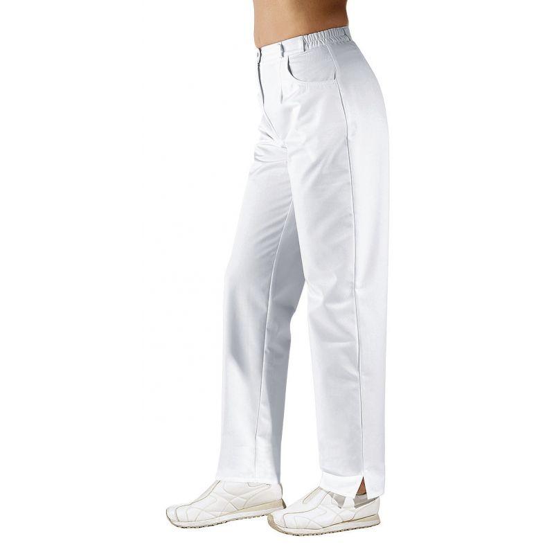 pantalon blanc femme taille lastiqu e dos entretien facile. Black Bedroom Furniture Sets. Home Design Ideas