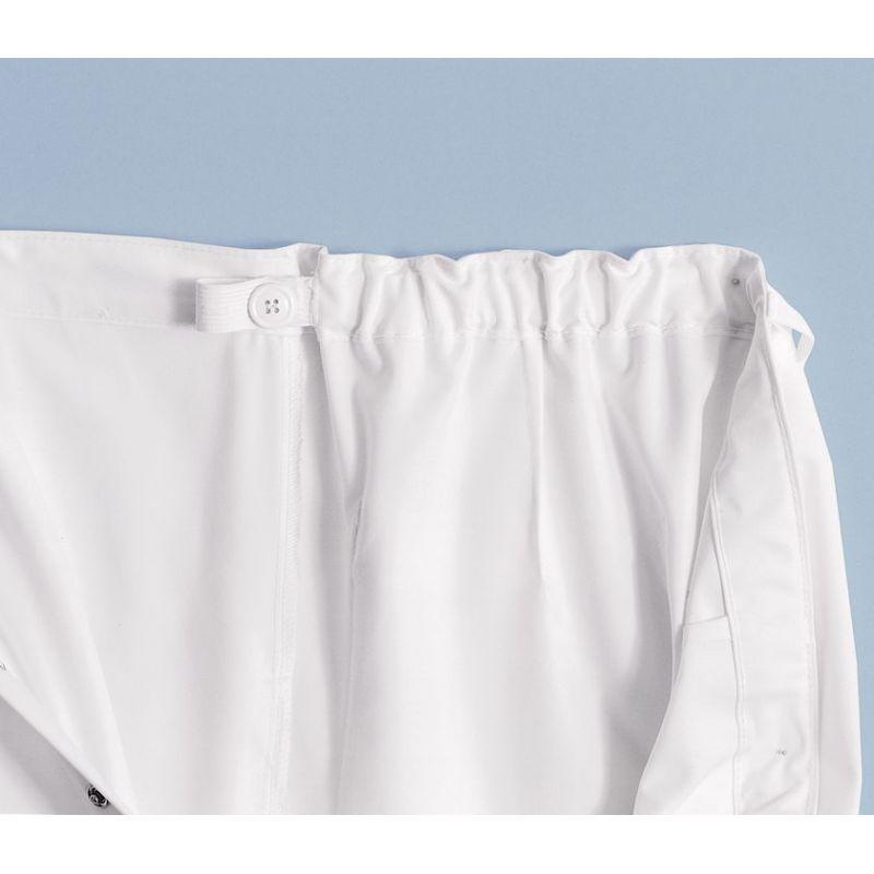 pantalon blanc femme et homme polyester coton taille. Black Bedroom Furniture Sets. Home Design Ideas