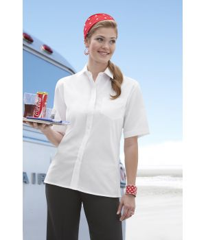 Chemisier dame manches courtes Blanc, Taille 36
