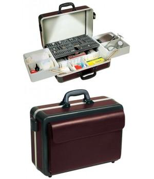 mallette médicale PROGRESS, ABS gainé cuir, très solide, sans éclairage intérieur