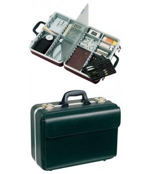 mallette médicale NOVA, Cuir véritable anti-rayures, cadre aluminium, anti-frottement