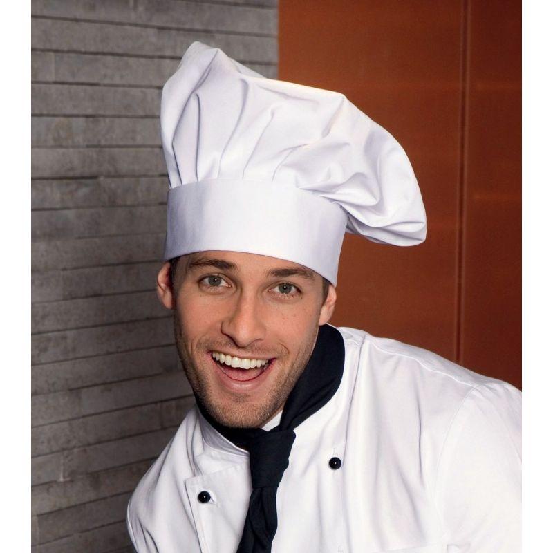 Toque chef cuisinier fermeture facile par velcro taille - Image toque cuisinier ...