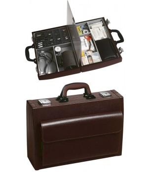 Mallette médecin PICCOLA, cuir anti-rayures, Compacte et maniable, 41x28x13 cm