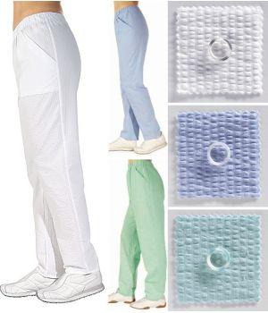 Pantalon femme Seersucker couleur Menthe, Taille M.