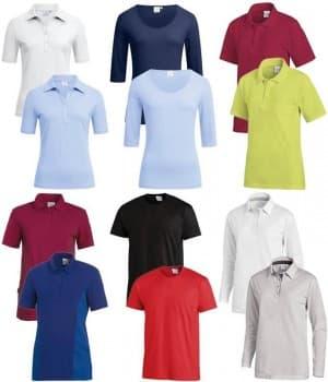T-shirts, polos, chemises, chemisiers, veste