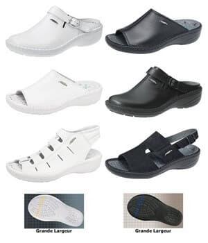 chaussures Reflexor® Grande largeur, massage, cousu main