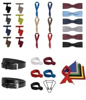 Cravates, Noeuds papillon, Tours de cou, Ceintures, Foulards
