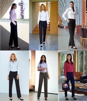 Pantalons accueil, service, Femme