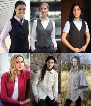 Gilets Tailleur de Costume Femme et Gilets Laine
