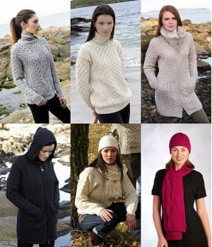 Pull Irlandais Femme, Sweater, Cardigan, Chandail, Veste