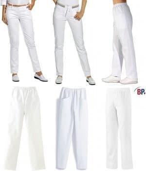 Pantalons Blancs Femme, taille normale, 100% coton