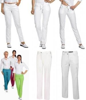Jeans Femme blanc et couleur