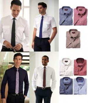 Chemises de travail polyester coton