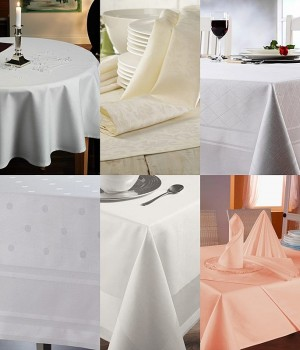 Nappes Restaurant, Serviettes, Chemins de table