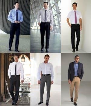 Pantalons accueil, service, Homme